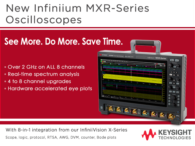New Keysight MXR-Series Oscilloscope