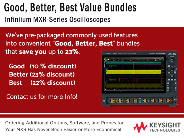 Keysight Infiniium MXR good better best