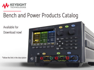 Keysight New bench and power products catalog